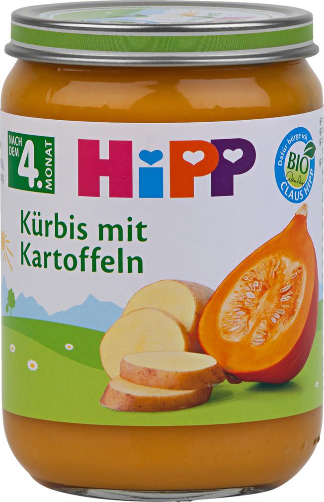 Abbildung des Sortimentsartikels Hipp Kürbis mit Kartoffeln 190g