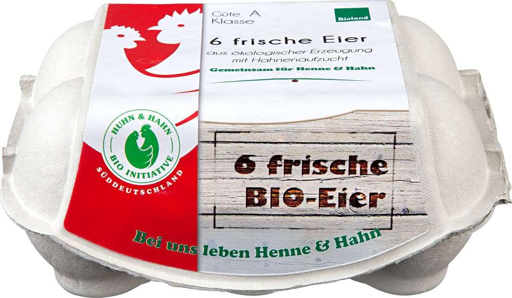 Abbildung des Sortimentsartikels Hönig-Hof Eier Biohaltung HKL A, Gew.Klasse s.Packung 6er