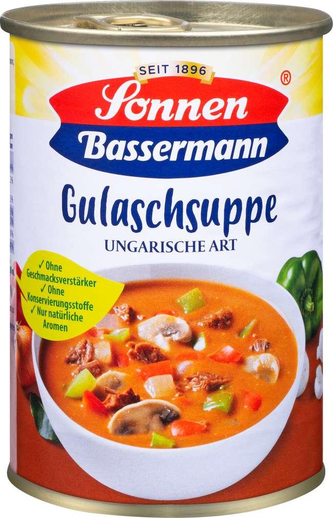 Abbildung des Sortimentsartikels Sonnen Bassermann Gulaschsuppe ungarische Art 400ml