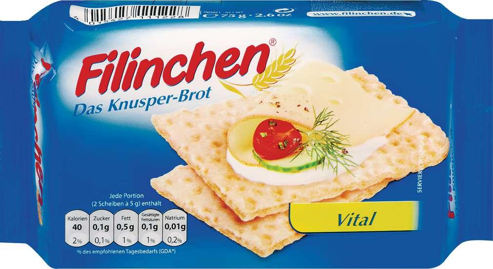 Abbildung des Sortimentsartikels Filinchen Knusper-Brot Vital 75g