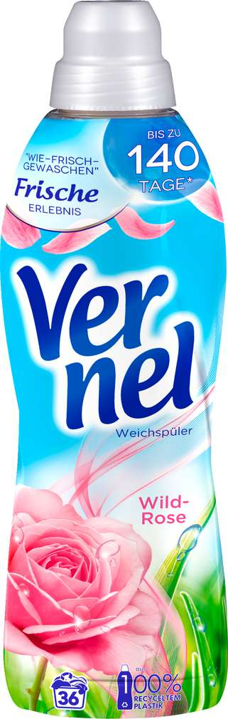 Abbildung des Sortimentsartikels Vernel Weichspüler Wilde Rose 900ml