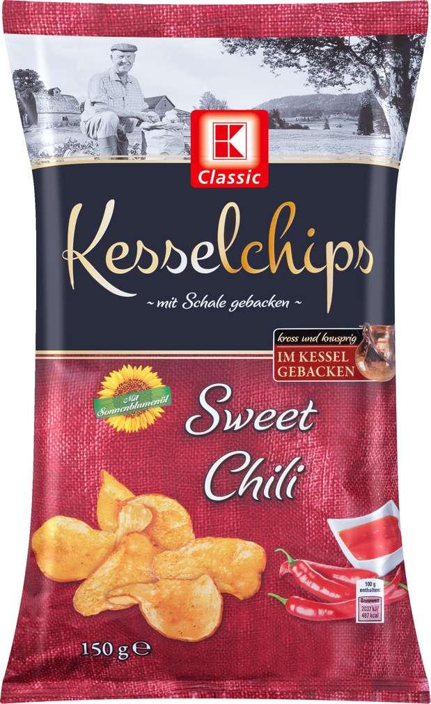 Abbildung des Sortimentsartikels K-Classic Kesselchips Sweet Chili 150g
