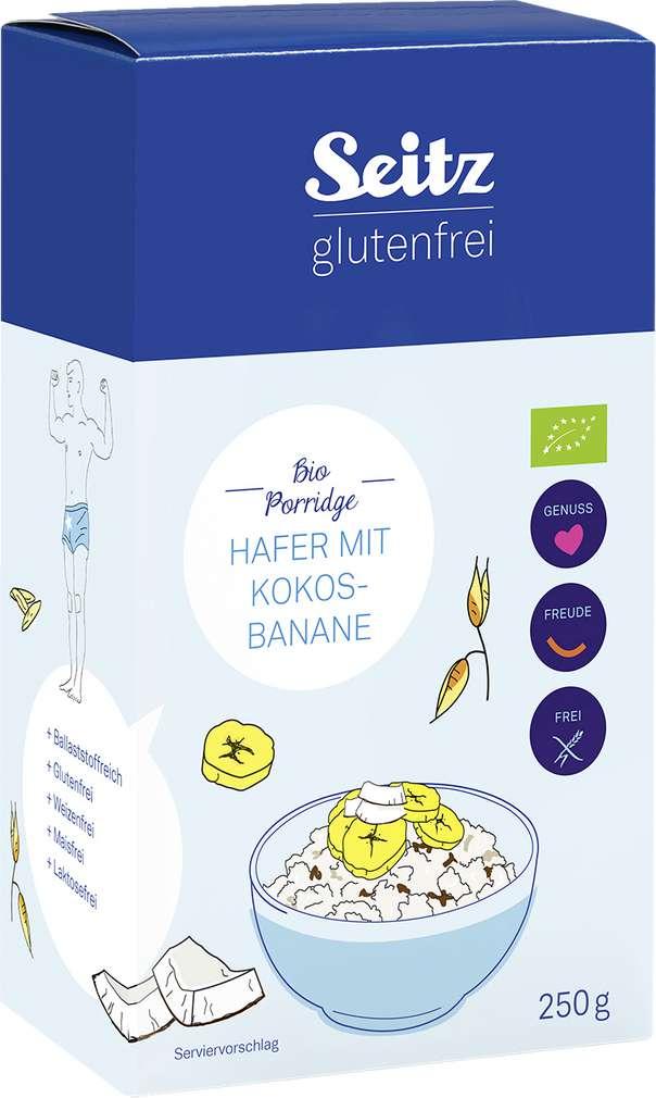 Abbildung des Sortimentsartikels Seitz glutenfrei Bio Bio-Haferporridge Kok/Ban 250g