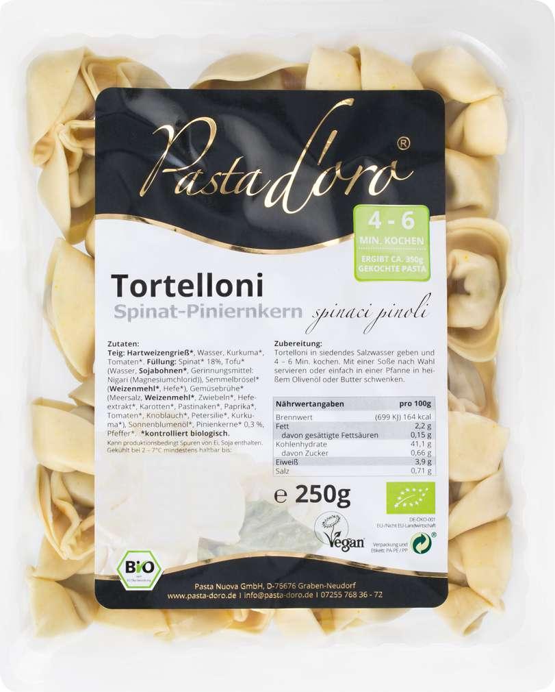 Abbildung des Sortimentsartikels Pasta D'Oro Tortelloni Spinat-Pinienkern 250g
