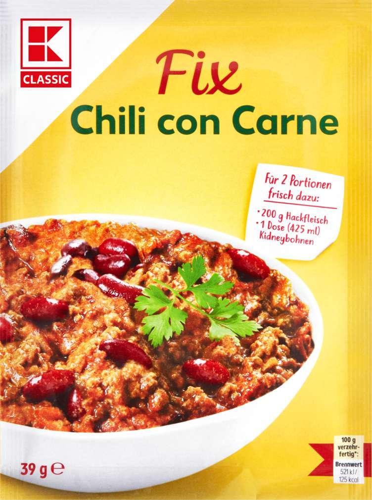 Abbildung des Sortimentsartikels K-Classic Fix Chili con Carne 39g
