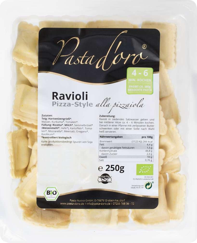 Abbildung des Sortimentsartikels Pasta D'Oro Ravioli Pizza-Style 250g