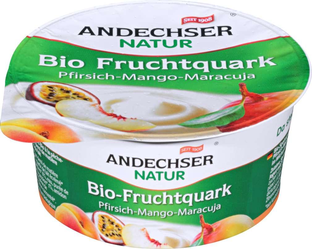 Abbildung des Sortimentsartikels Andechser Natur Bio-Fruchtquark Pfirsich-Mango-Maracuja 150g