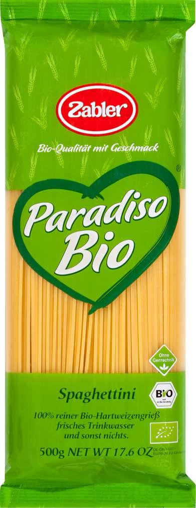 Abbildung des Sortimentsartikels Zabler Paradiso Bio Spaghettini 500g