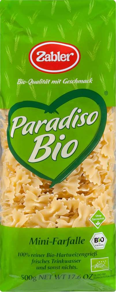 Abbildung des Sortimentsartikels Zabler Paradiso Bio Minis Mini-Farfalle 500g