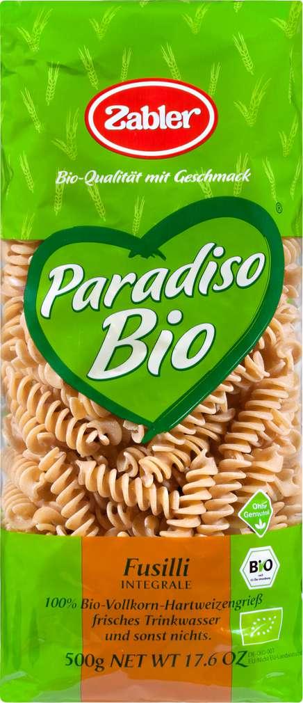 Abbildung des Sortimentsartikels Zabler Paradiso Bio Fusilli Vollkorn 500g