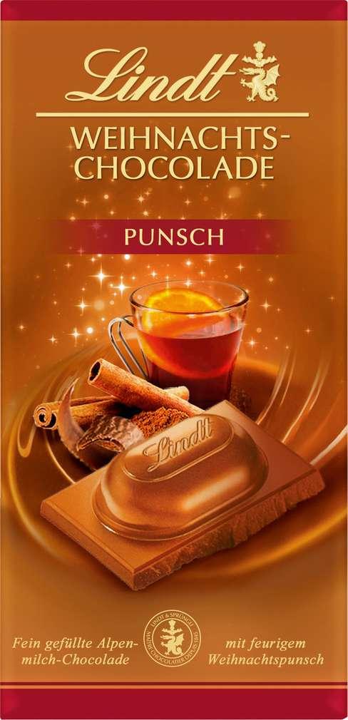 Abbildung des Sortimentsartikels Lindt Weihnachts-Punsch Schokolade 100g