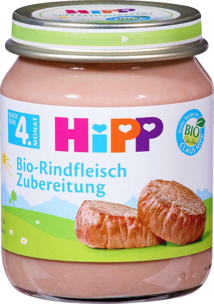 Abbildung des Sortimentsartikels Hipp Bio-Rindfleisch Zubereitung 125g