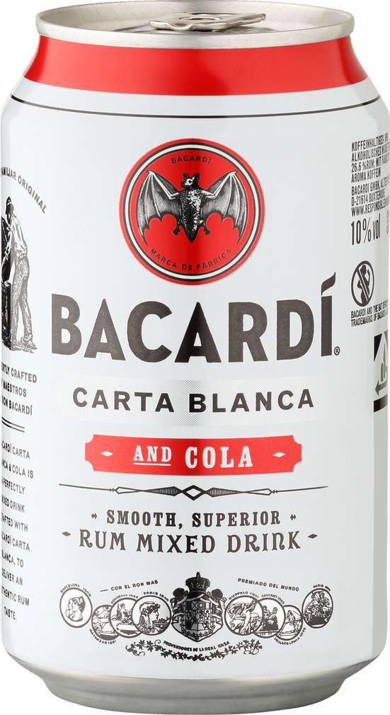 Abbildung des Sortimentsartikels Bacardi Superior & Cola 0,33l