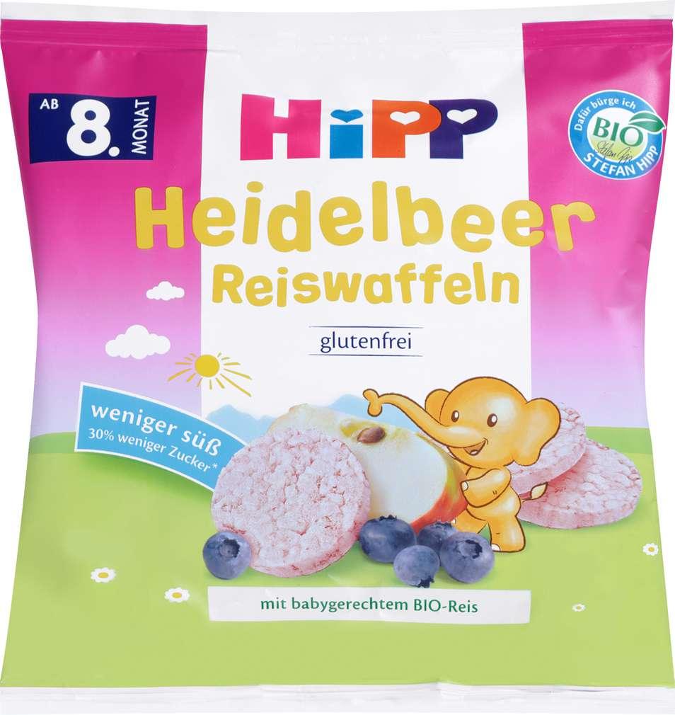 Abbildung des Sortimentsartikels Hipp Bio Heidelbeer Reiswaffeln ab dem 8. Monat 30g