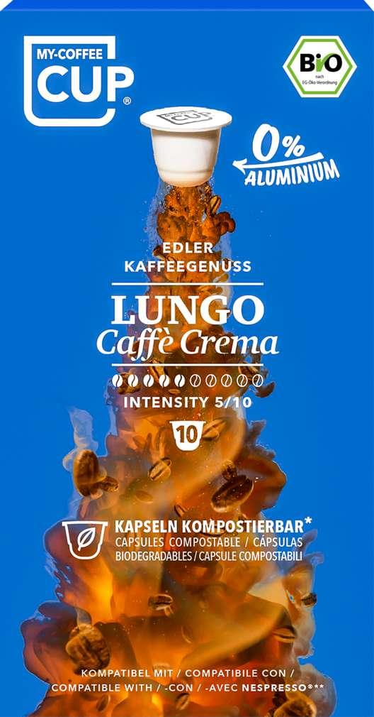 Abbildung des Sortimentsartikels UniCaps Bio Lungo Cafe Crema 53g