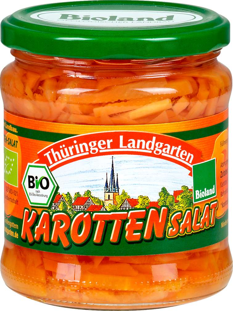 Abbildung des Sortimentsartikels Thüringer Landgarten Bio Karottensalat 330g
