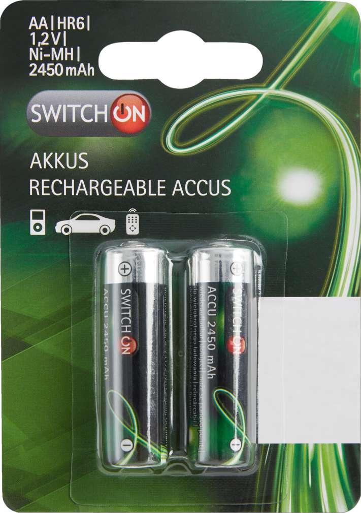 Abbildung des Sortimentsartikels Switch On Akku AA 2 Stück