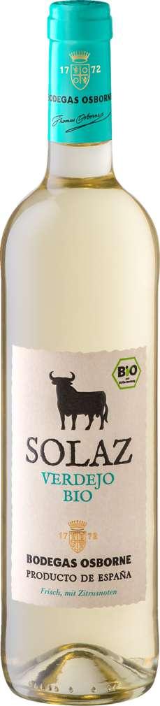 Abbildung des Sortimentsartikels Bodegas Osborne Solaz Verdejo Bio trocken 0,75l