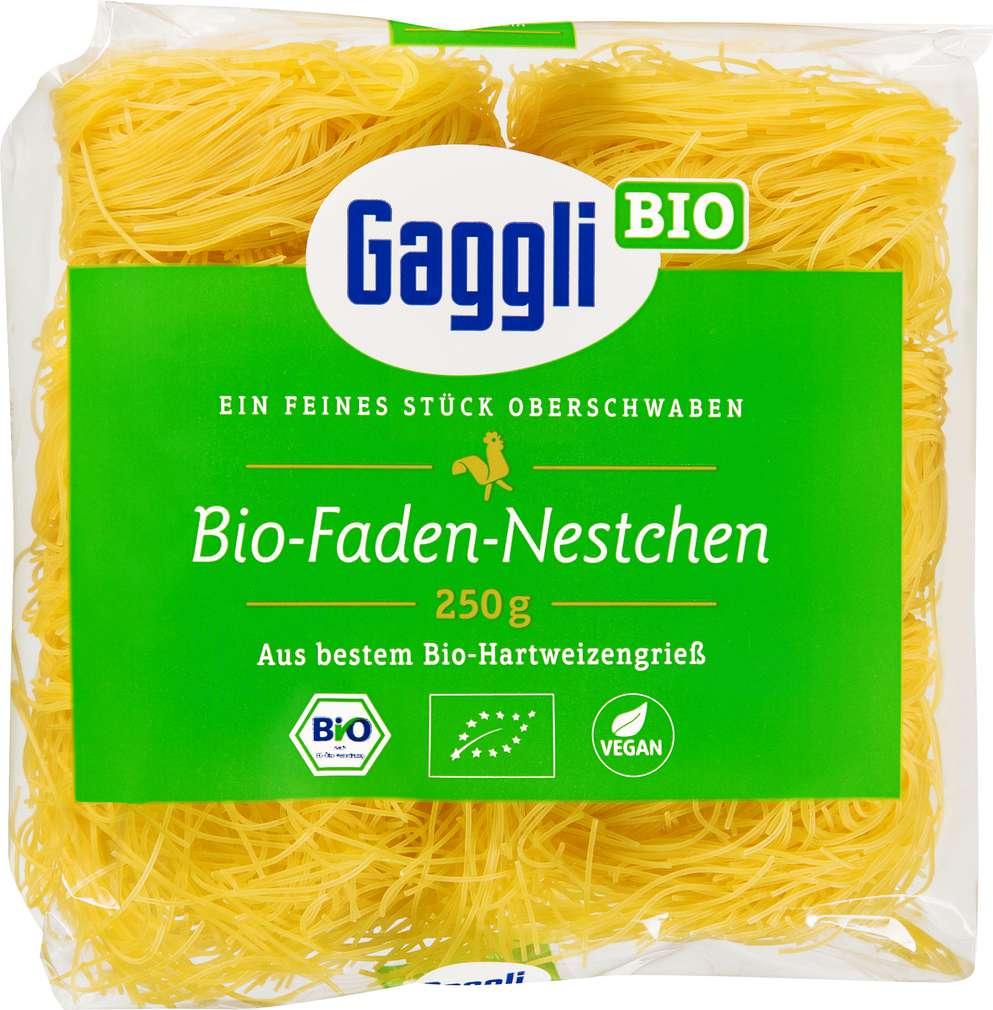 Abbildung des Sortimentsartikels Gaggli Bio-Hartweizen-Nudel Faden-Nestchen 250g