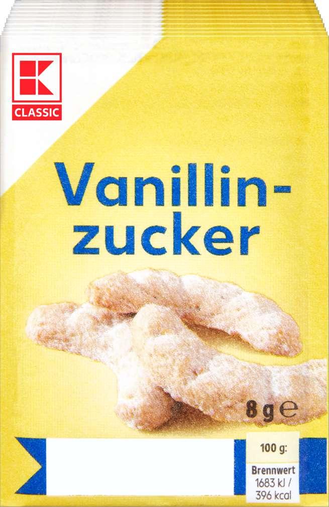 Abbildung des Sortimentsartikels K-Classic Vanillin-Zucker  10er 80g