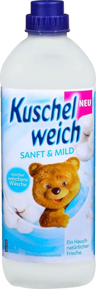 Abbildung des Sortimentsartikels Kuschelweich Weichspüler Sanft & Mild 31WL=1l
