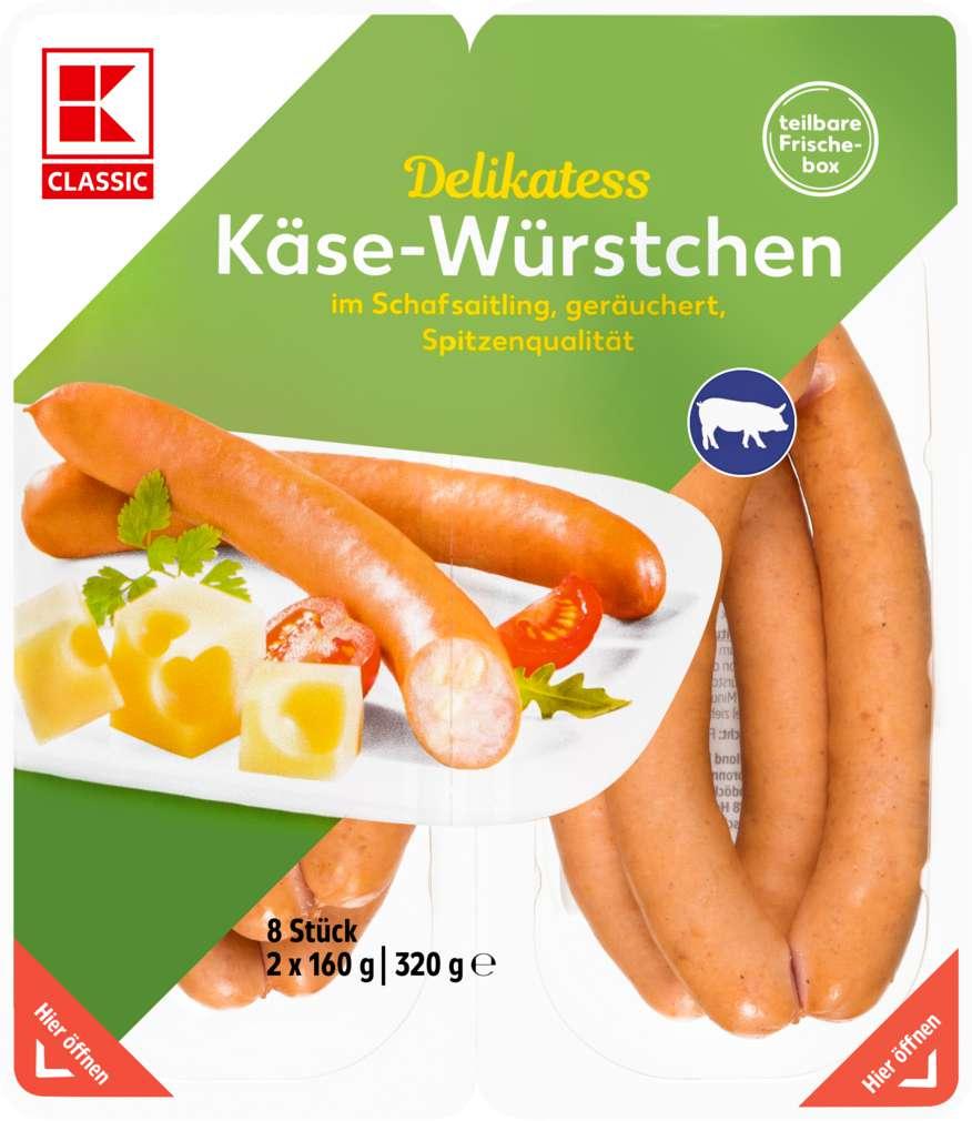 Abbildung des Sortimentsartikels K-Classic Käsewürstchen 320g