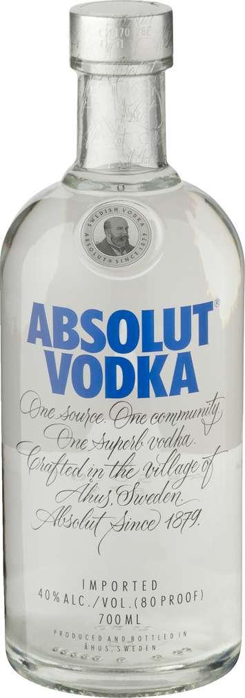 Abbildung des Sortimentsartikels Absolut Vodka 40%-Vol. 0,7l