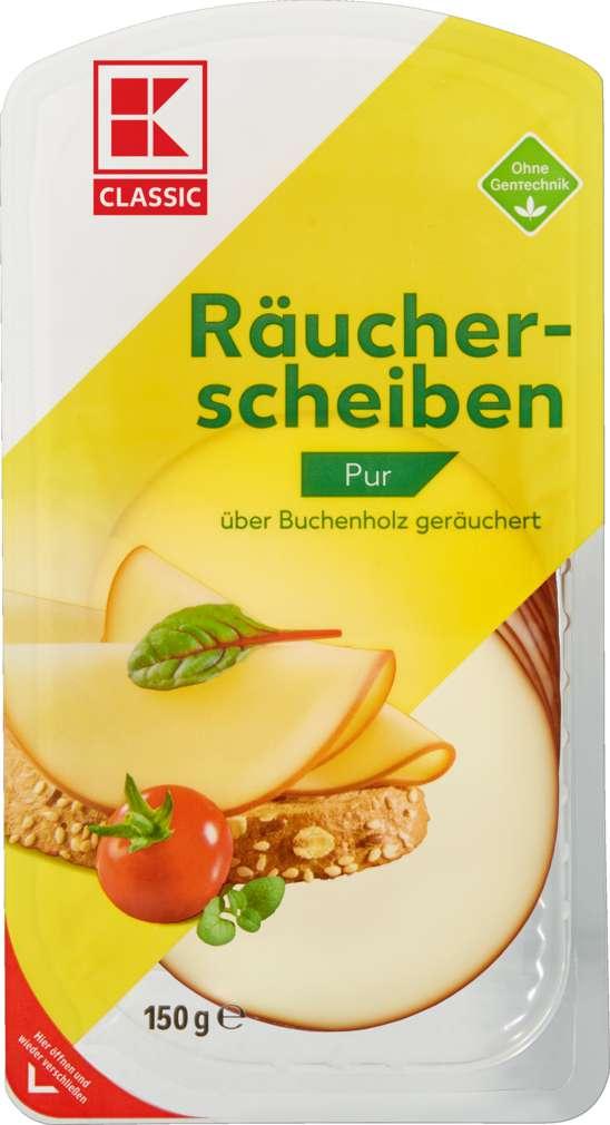 Abbildung des Sortimentsartikels K-Classic Räucherscheiben 45%Fett i.Tr., natur 150g