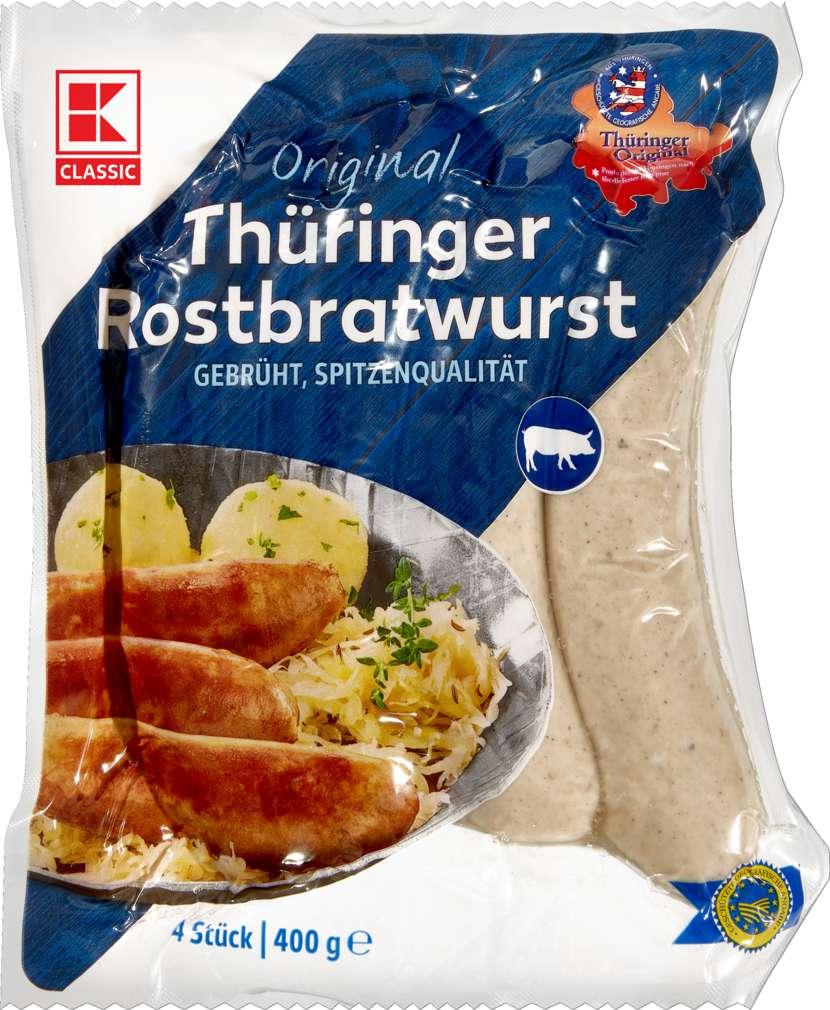 Abbildung des Sortimentsartikels K-Classic Thüringer Rostbratwurst im Schweinedarm 4 Stück = 400g