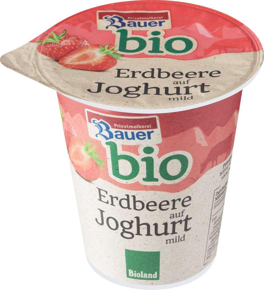 Abbildung des Sortimentsartikels Bauer Bio Fruchtjoghurt Erdbeere auf Joghurt mild 150g