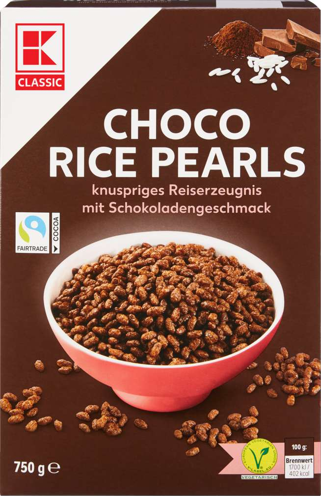 Abbildung des Sortimentsartikels K-Classic Choco Rice Perls 750g