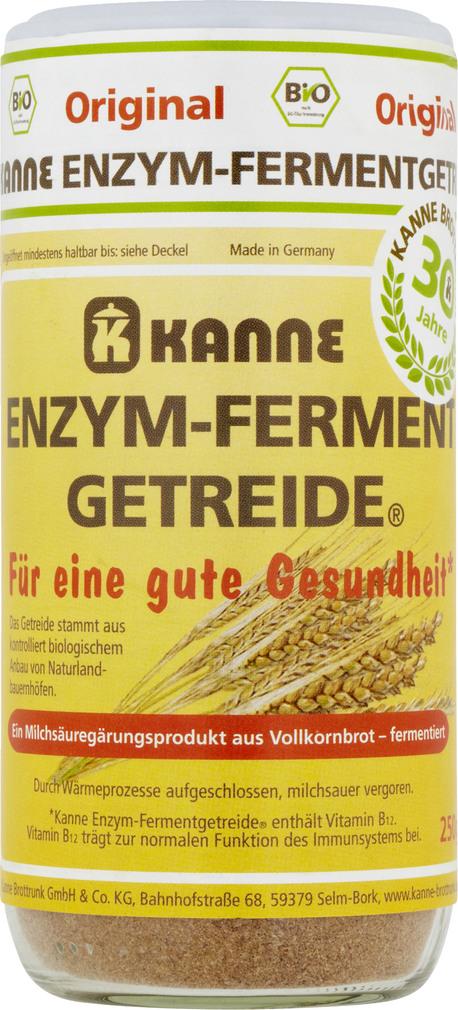 Abbildung des Sortimentsartikels Kanne Enzym-Ferment Getreide 250g