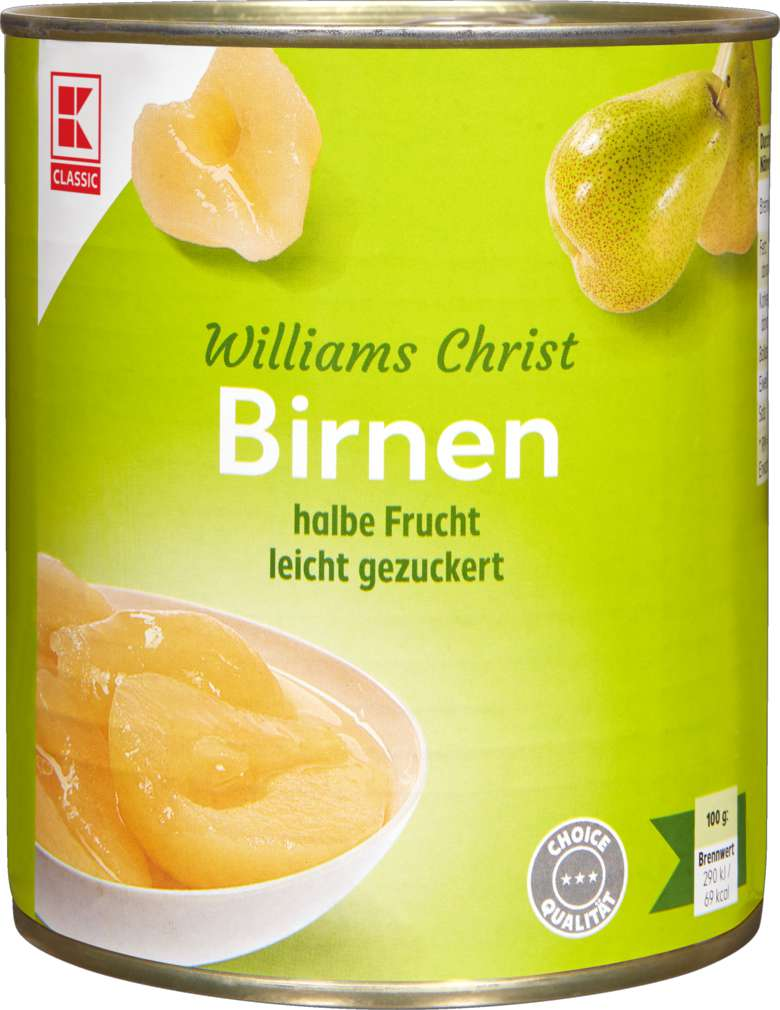 Abbildung des Sortimentsartikels K-Classic Williams Christ - Birnen 850ml