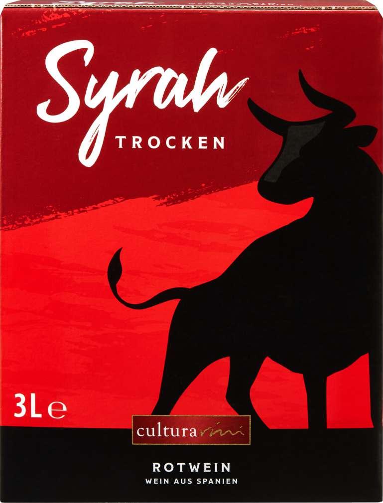 Abbildung des Sortimentsartikels Cultura Vini Syrah Spanien 3l