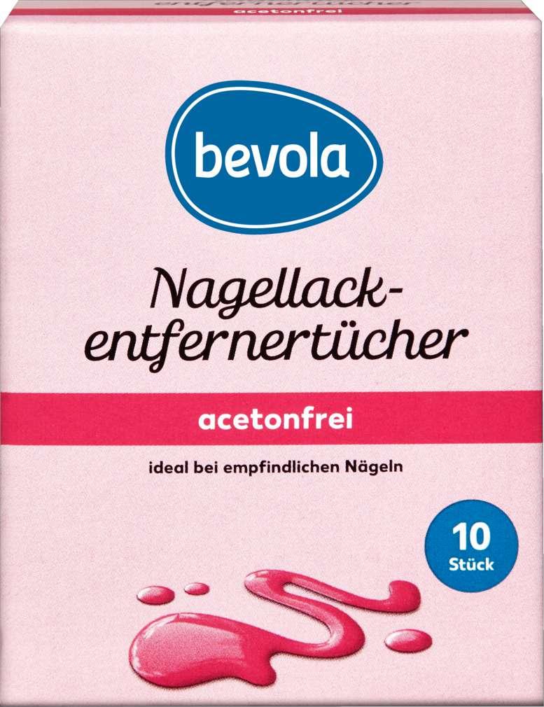 Abbildung des Sortimentsartikels Bevola Nagellackentferner Tücher 10 Stück