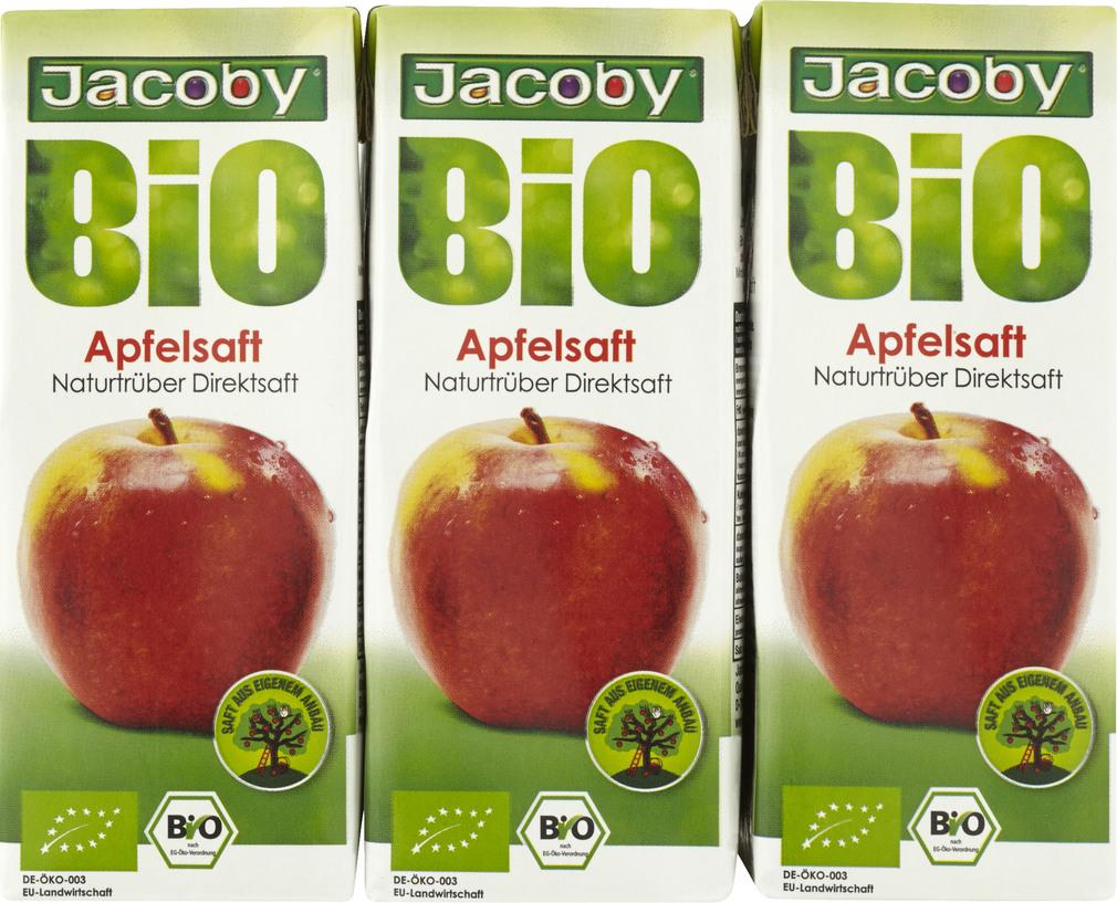 Abbildung des Sortimentsartikels Jacoby Bio Apfeldirektsaft naturtrüb 6x0,2l