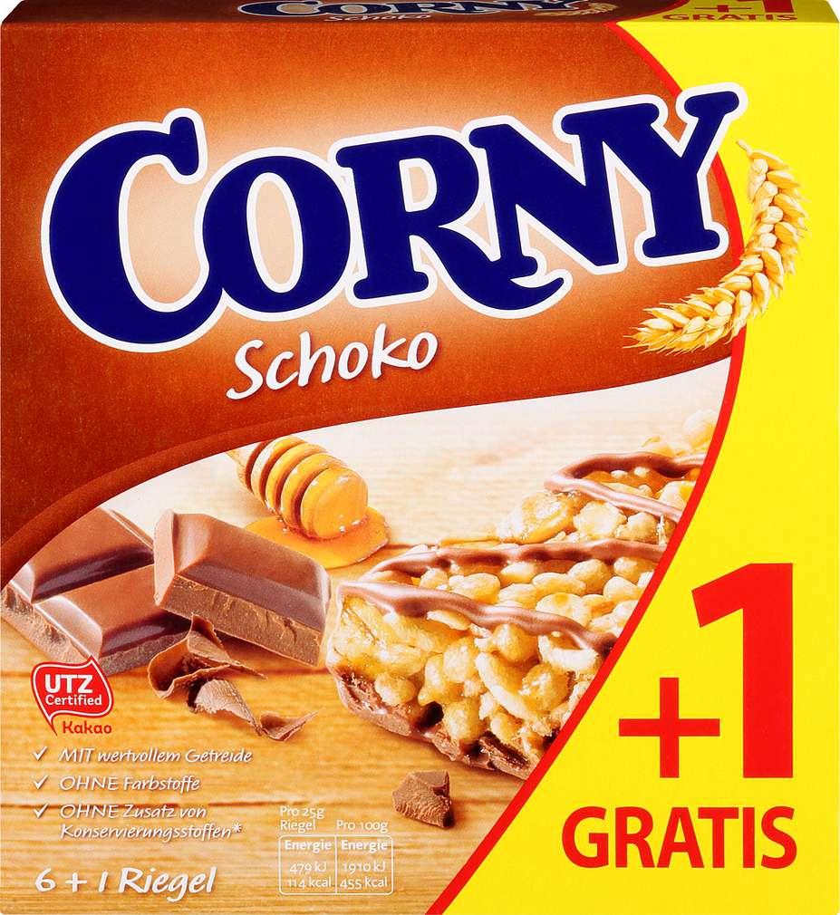 Abbildung des Sortimentsartikels Schwartau Corny Riegel Schoko 6+1=175g