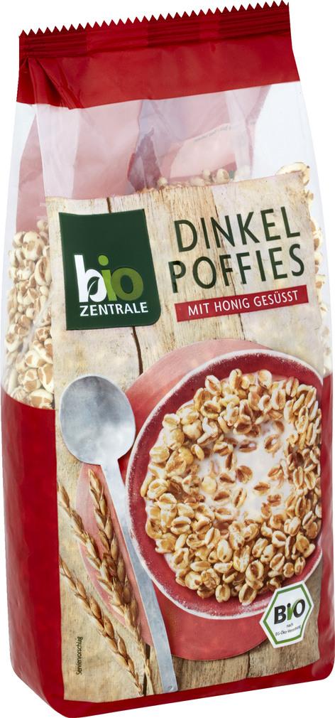 Abbildung des Sortimentsartikels Bio-Zentrale Dinkel Poffies mit Honig gesüßt 200g