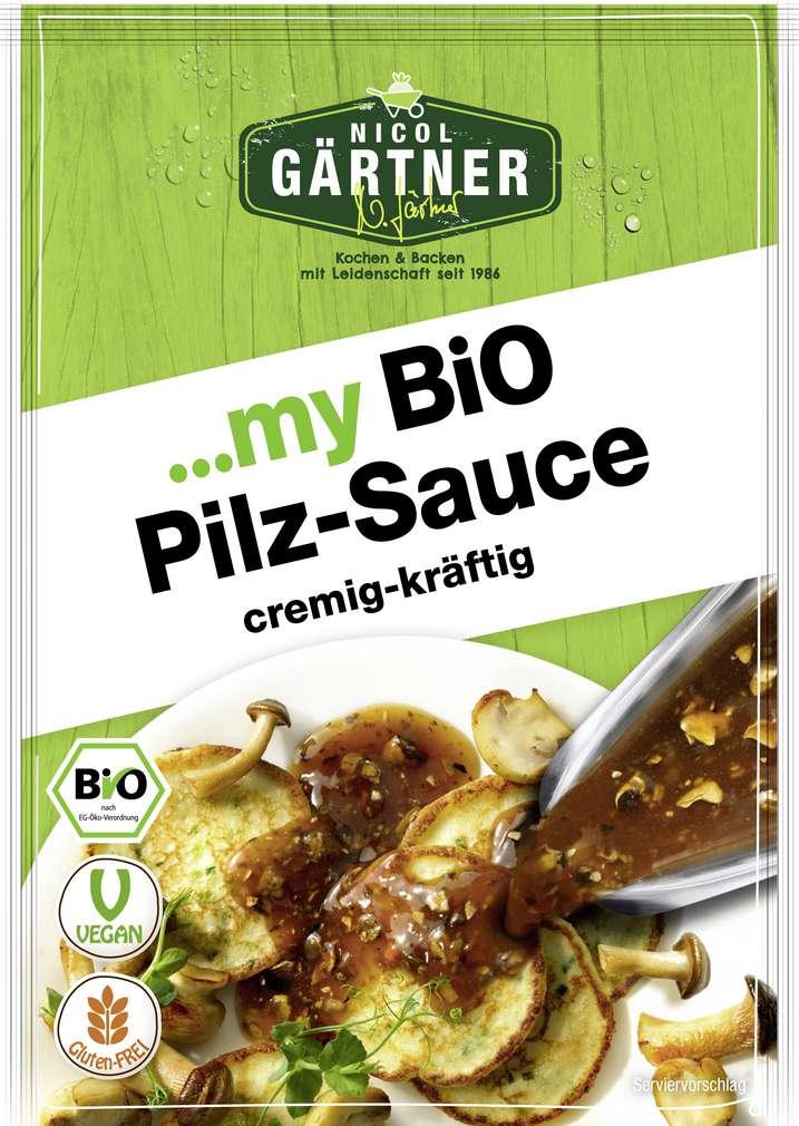 Abbildung des Sortimentsartikels Nicol Gärtner Bio-Pilz-Sauce glutenfrei, laktosefrei 27g
