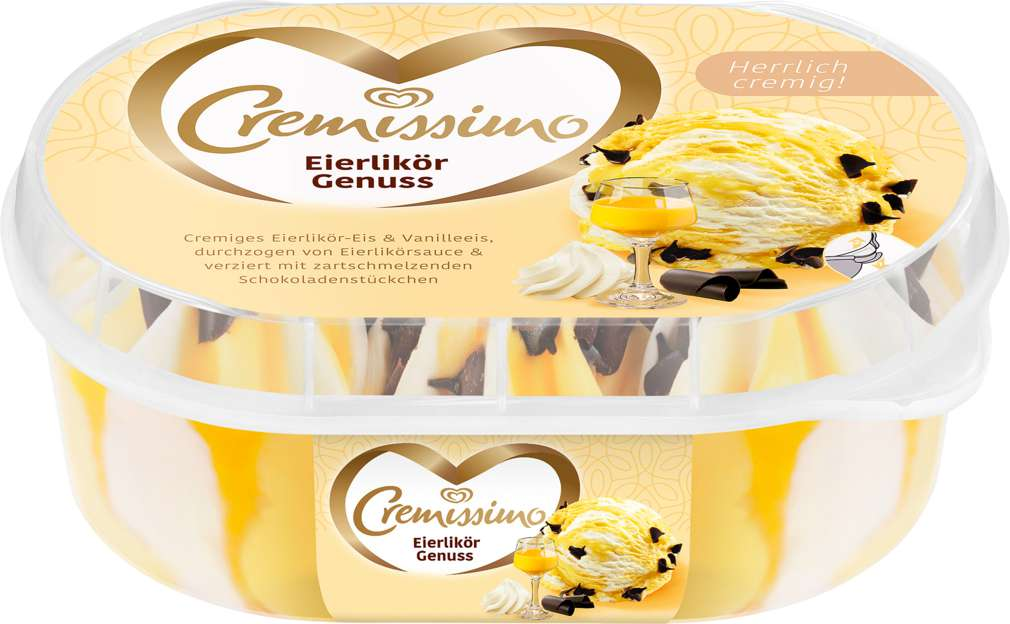 Abbildung des Sortimentsartikels Langnese Cremissimo Eis Eierlikör-Vanille 900ml