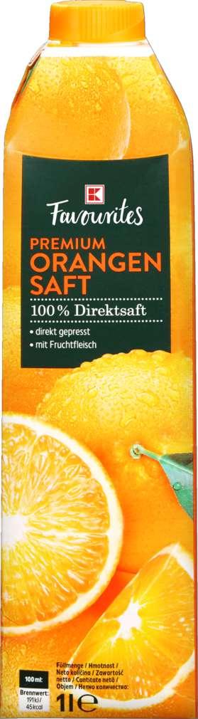 Abbildung des Sortimentsartikels K-Favourites Direktsaft Orange 1,0l