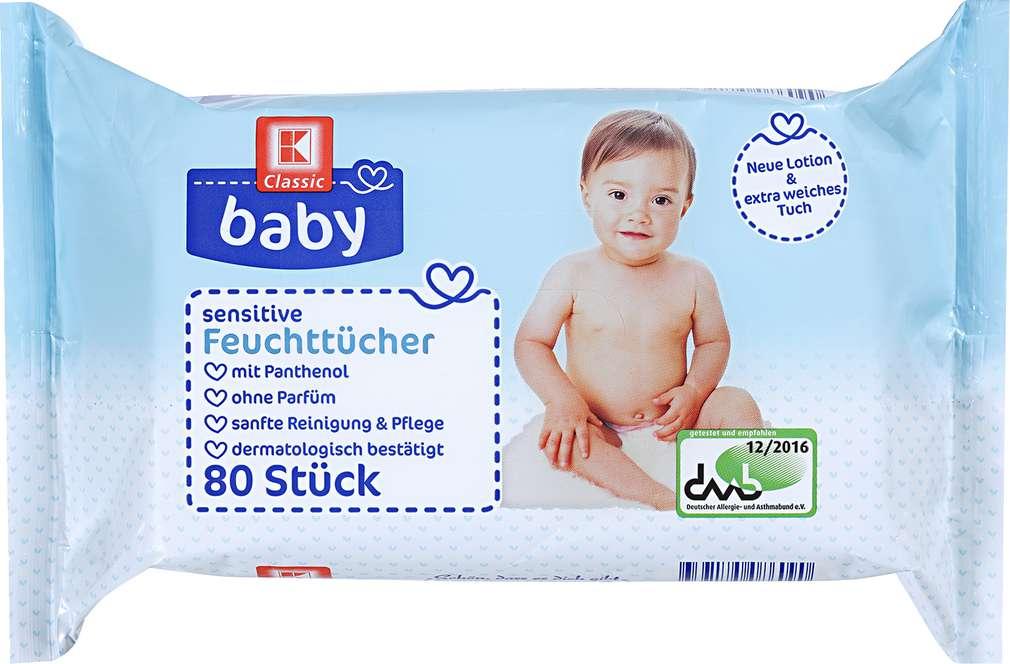 Abbildung des Sortimentsartikels K-Classic Baby Sensitive Feuchttücher 80 Stück