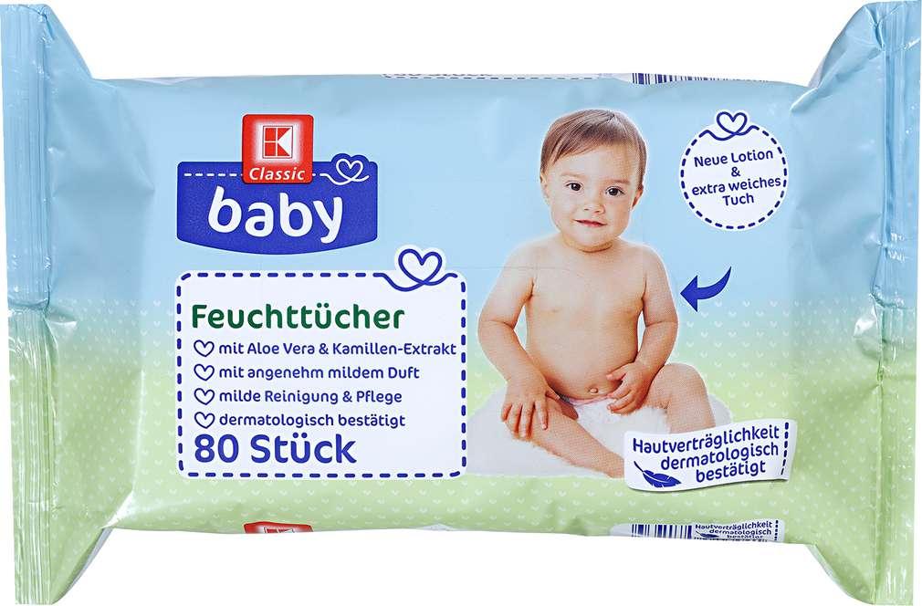 Abbildung des Sortimentsartikels K-Classic Baby Feuchttücher 80 Stück