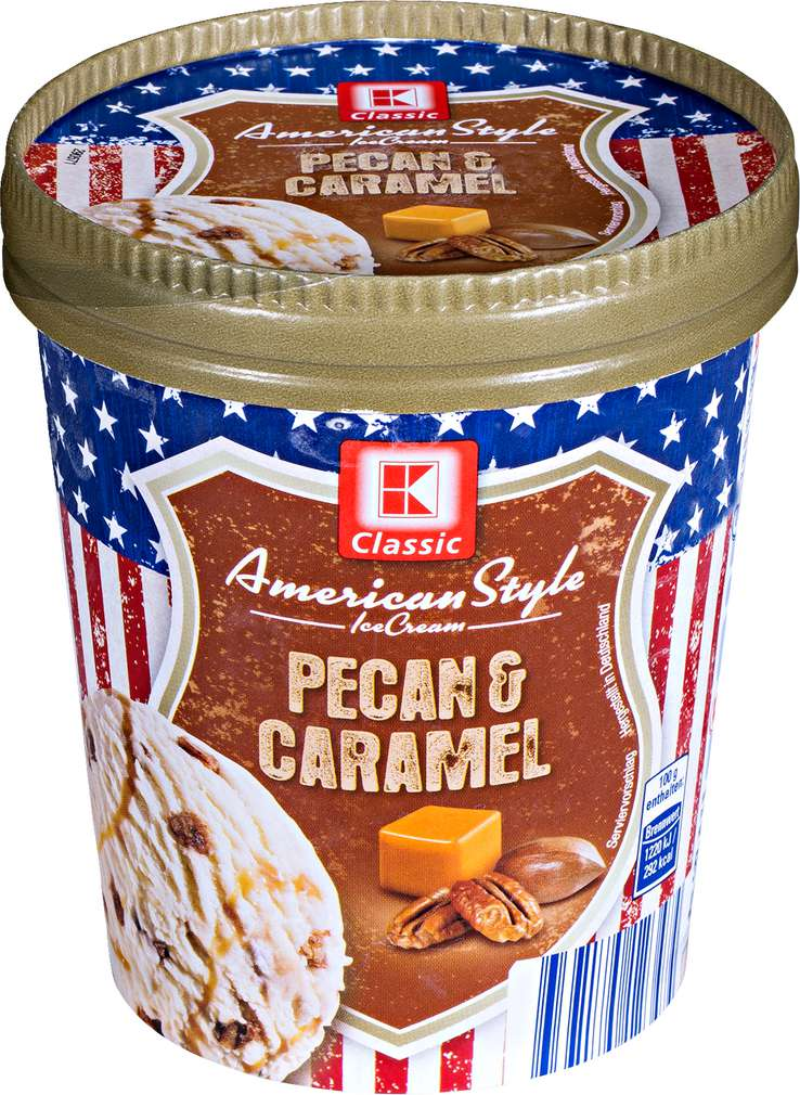 Abbildung des Sortimentsartikels K-Classic American Style Pecan & Caramel Eis 500ml