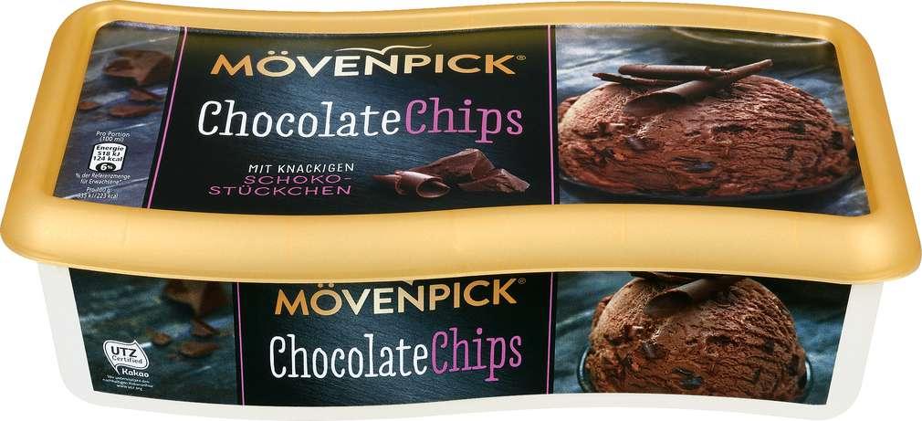 Abbildung des Sortimentsartikels Mövenpick Chocolate Chips 900ml