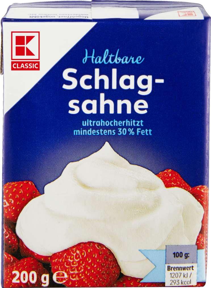Abbildung des Sortimentsartikels K-Classic H-Schlagsahne 30% Fett 200g