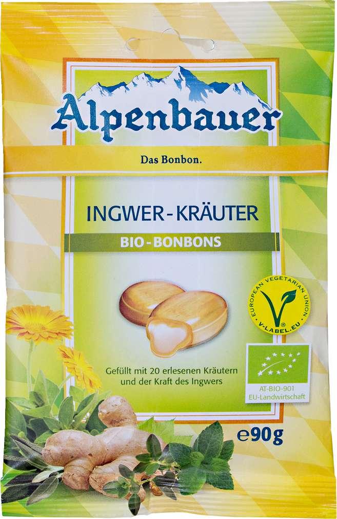 Abbildung des Sortimentsartikels Alpenbauer Ingwer-Kräuter Bio-Bonbons 90g