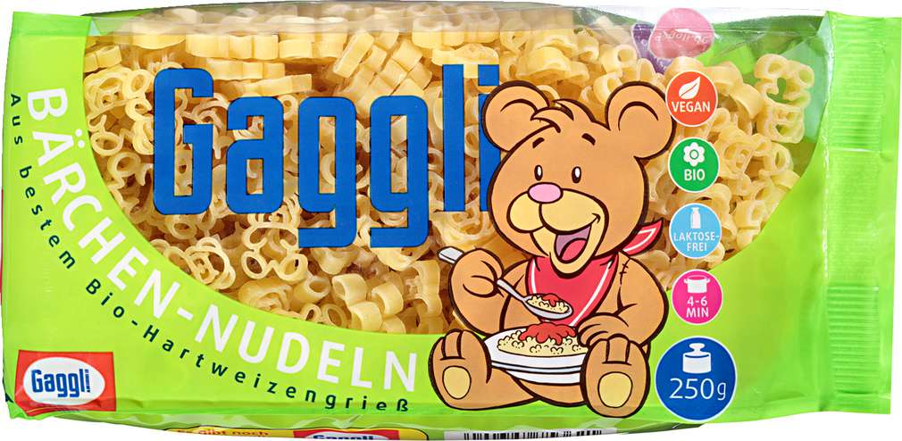 Abbildung des Sortimentsartikels Gaggli Kinder Bärchen-Nudeln 250g