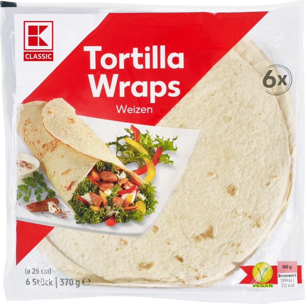 Abbildung des Sortimentsartikels K-Classic Tortillas Weizen 6 Stück 370g