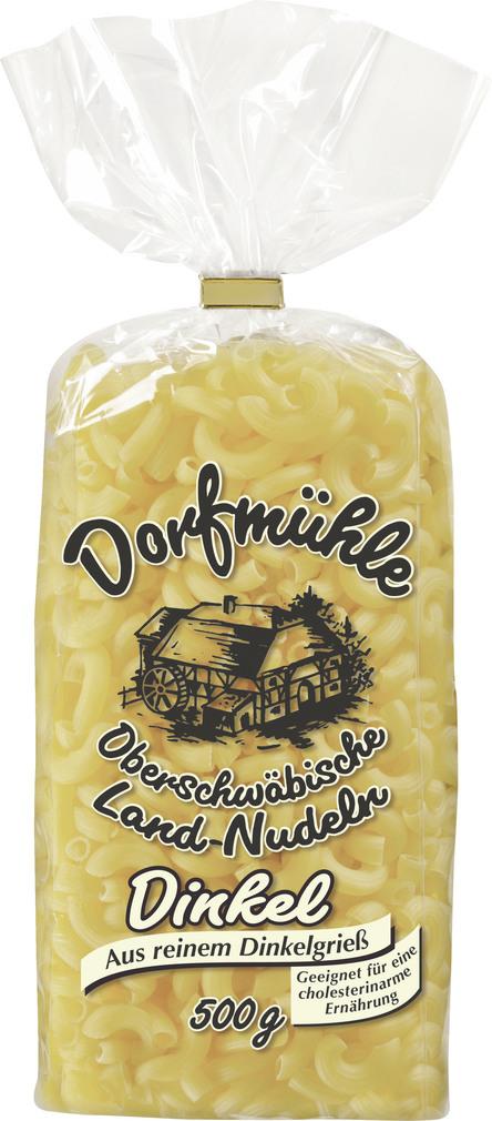 Abbildung des Sortimentsartikels Dorfmühle Oberschwäbische Landnudeln Dinkel 500g